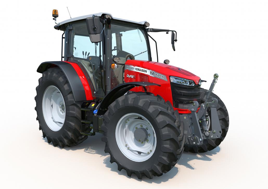 Massey Ferguson begann auf der Agritechnica 2019 mit der Einführung der Serie MF 5700 M, die fünf Modelle von 95 bis 135 PS umfasst (Quelle: Austrodiesel).
