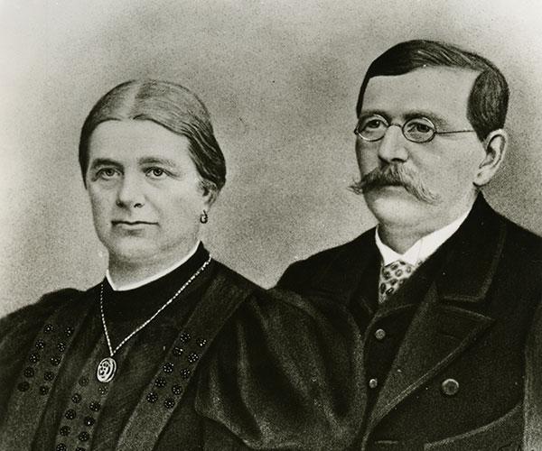Gründer Franz Pöttinger mit Gattin Juliane